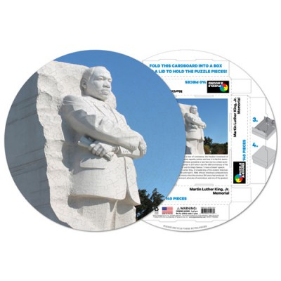 Pigment-and-Hue-RMLK-41213 Fertiges Rundpuzzle - Martin Luther King Memorial