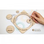 Eco-Wood-Art-36 Holzpuzzle - Spirograph