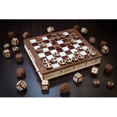 Eco-Wood-Art-58 Mechanical 3D-puzzle of the Classic Board Games