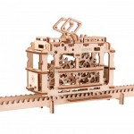 Ugears-12019 3D Holzpuzzle - Tram on Rails
