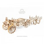 Ugears-12080 3D Holzpuzzle - Royal Сarriage