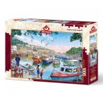 Puzzle  Art-Puzzle-4231 The Little Fishermen at the Harbour
