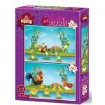 Art-Puzzle-4496 2 Puzzles - Animals and Babies