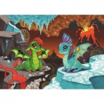 Puzzle  Art-Puzzle-4509 Baby Dragons