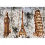Puzzle  Art-Puzzle-5199 Three Cities - Three Towers