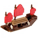 Brixies-58117 Nano 3D Puzzle - Drachenboot (Level 3)