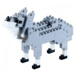 Brixies-58433 3D Nano Puzzle - Wolf