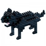 Brixies-58434 3D Nano Puzzle - Schwarzer Panther