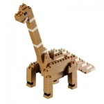 Brixies-58437 3D Nano Puzzle - Dinosaurier
