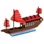 Brixies-58481 Nano 3D Puzzle - Großes Drachenboot Advance (Level 5)