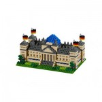 Brixies-58645 Nano 3D Puzzle - Reichstag Berlin (Level 4)