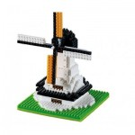 Brixies-58654 Nano 3D Puzzle - Große Windmühle (Level 1)