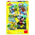 4 Puzzles - Mickey Mouse in the City