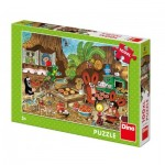 Puzzle  Dino-34345 XXL Teile - The Little Mole