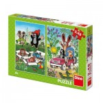 Dino-38157 2 Puzzles - The little Mole