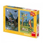 Dino-38161 2 Puzzles - Fairy Tales
