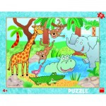 Frame Puzzle - At the Zoo