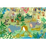 Puzzle  Grafika-Kids-00878 XXL Teile - François Ruyer: Jungle