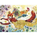 Puzzle  Grafika-Kids-02063 Sally Rich - Leaping Fox's