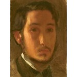 Puzzle  Grafika-01765 Edgar Degas: Self-Portrait with White Collar, 1857