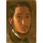 Puzzle  Grafika-01766 Edgar Degas: Self-Portrait with White Collar, 1857