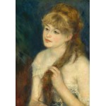 Puzzle  Grafika-01895 Auguste Renoir: Young Woman Braiding Her Hair, 1876