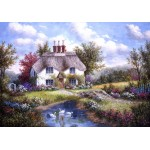 Puzzle  Grafika-02489 Dennis Lewan - Swan Creek Cottage