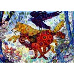 Puzzle  Grafika-02840 Sally Rich - Wolves in a Blue Wood