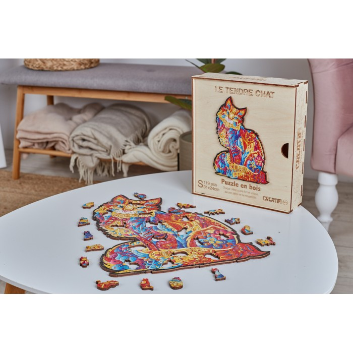 Wooden puzzle - The Tender Cat