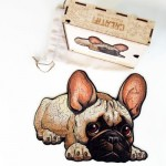 Holzpuzzle - Die Treue Bulldogge