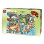 Puzzle  King-Puzzle-05225 Funny Comic Collection - Steam Train Pirates