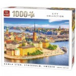 Puzzle  King-Puzzle-55952 City Collection - Gamla Stan, Stockholm, Sweden
