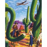 Puzzle   Cactus Country - American Airlines Poster Mini