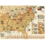 Puzzle  New-York-Puzzle-NG1705 XXL Teile - Battles of the Civil War
