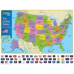 Puzzle  New-York-Puzzle-NG1710 XXL Teile - The USA and Its Flags