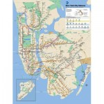 Puzzle  New-York-Puzzle-SW101 XXL Teile - New York Subway Map