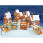 Puzzle   Kartonmodelbau: Advent Calendar Village