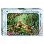Puzzle  Step-Puzzle-79528 Tiger im Dschungel