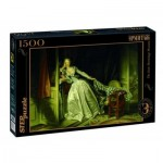 Puzzle  Step-Puzzle-83205 Fragonard - The Stolen Kiss