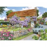 Puzzle  The-House-of-Puzzles-3473 XXL Teile - Wisteria Cottage