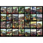 Puzzle  The-House-of-Puzzles-3718 XXL Teile - A to Z of Rail