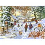 Puzzle  The-House-of-Puzzles-4388 XXL Teile - Snowy Walk