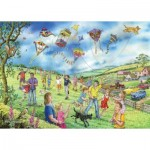 Puzzle  The-House-of-Puzzles-4807 XXL Teile - Darley Collection - Let's Go Fly a Kite