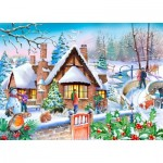 Puzzle  The-House-of-Puzzles-4814 XXL Teile - Darley Collection - Snowy Cottage