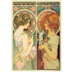 Holzpuzzle - Mucha Alfons - Feather & Cowslip