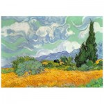 Holzpuzzle - Van Gogh - Wheat Field with Cypresses
